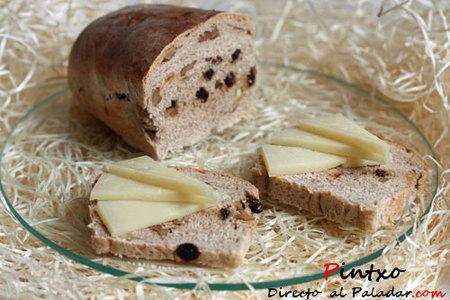 Maridaje de pan de canela con nueces y pasas con queso idiazabal