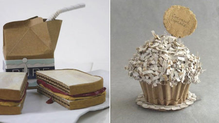 Comida realista de papel cartón por Patianne Stevenson