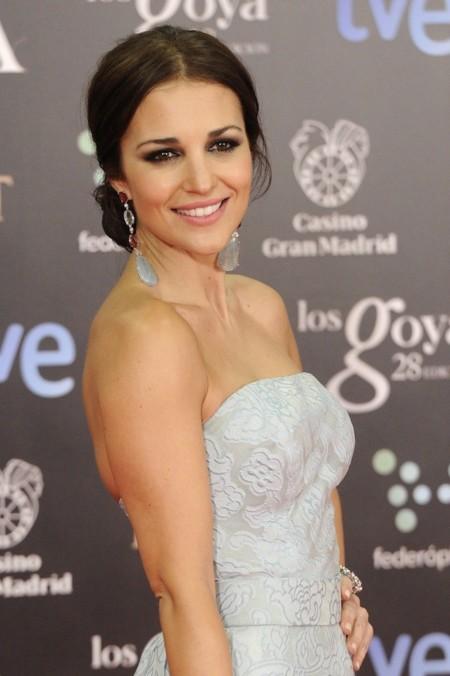 Paula Echevarría apuesta por un look princesa de Dolores Promesas en los Goya 2014