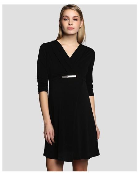 Vestido Negro Primavera Alía