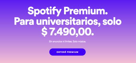 Spotify para estudiantes en Colombia