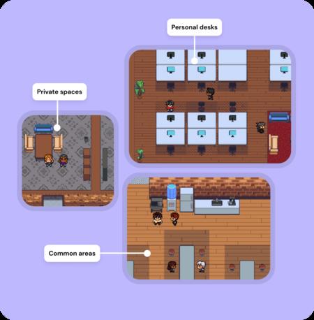 Gather, la alternativa a Slack que convierte una oficina virtual en un videojuego retro