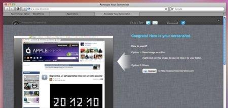 Awesome Screenshot, capturas de webs desde Safari