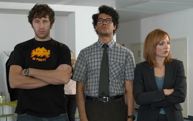 Los protagonistas de 'The IT Crowd'