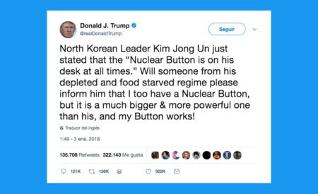Trump usa Twitter para amenazar al planeta con una guerra nuclear, porque puede