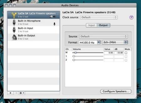 apple macosx snow leopard audio