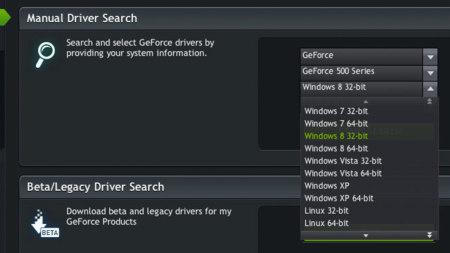 Nvidia lanza su primera actualización de drivers para Windows 8