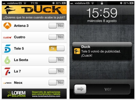 Duck, cazador de anuncios