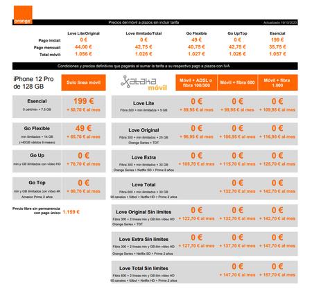Precios Iphone 12 Pro De 128 Gb A Plazos Con Tarifas Orange