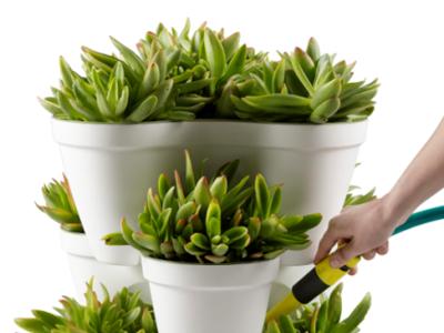 Una maceta modular para dar el toque verde a espacios pequeños