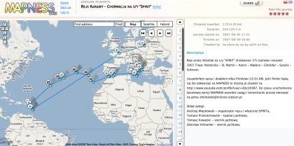 Publicar la ruta del viaje con Mapness
