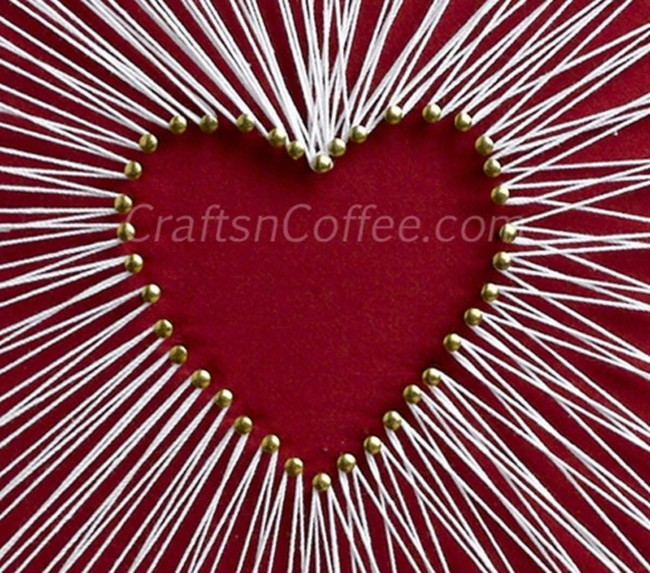String Art Heart Detail
