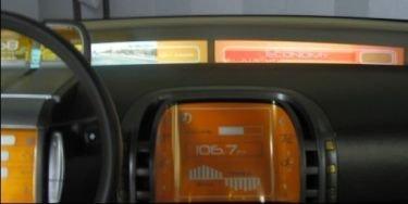 Mitsubishi Concept CT usa proyectores para mostrar los datos del vehículo