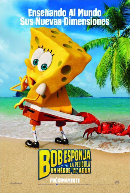 La nueva película de Bob Esponja le presenta como un héroe fuera del agua