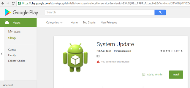 System Update Spyware Google Play
