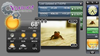Yahoo! Widgets 4, luchando contra Apple Dashboard y Windows Live Gadgets