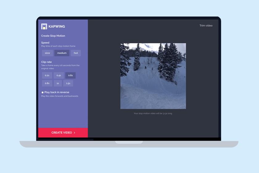 Kapwing, convierte tus vídeos en stop motion fácil, gratis y rápido desde la web