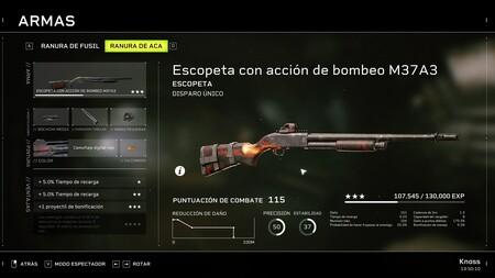 Escopeta M37A3 Fireteam