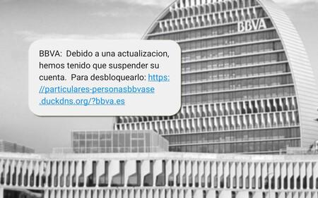 BBVA investiga un nuevo ataque phishing que llega por SMS y avisa de la supuesta suspensión de la cuenta bancaria
