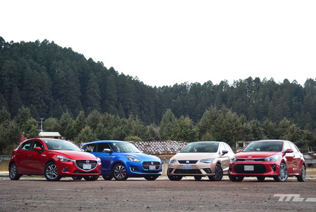 Seat Ibiza Vs Suzuki Swift Vs Kia Rio Vs Mazda2 2