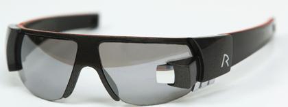 Gafas deportivas con pantalla para mostrar datos de cronómetro y pulsómetro