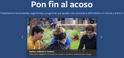 Centro de Prevención del Acoso en Facebook: un conjunto de herramientas para prevenir y actuar