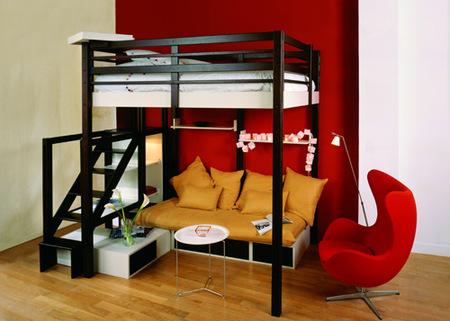 espace loggia cama salón