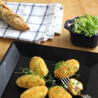Croquetas de espárragos trigueros y jamón. Receta para un aperitivo sorprendente