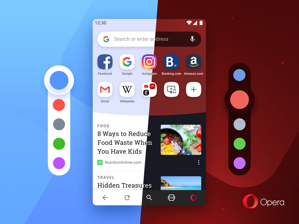 Opera 54 for Android becomes more colorful and adds Bitcoin and TRON to its portfolio of criptomonedas
