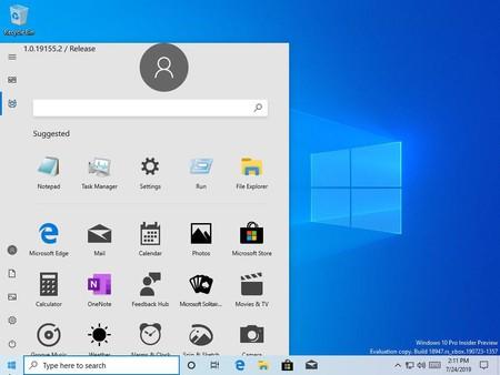 Un descuido de Microsoft revela por error un nuevo menú Inicio de Windows 10 en el que dice adiós a los 'Live Tiles'
