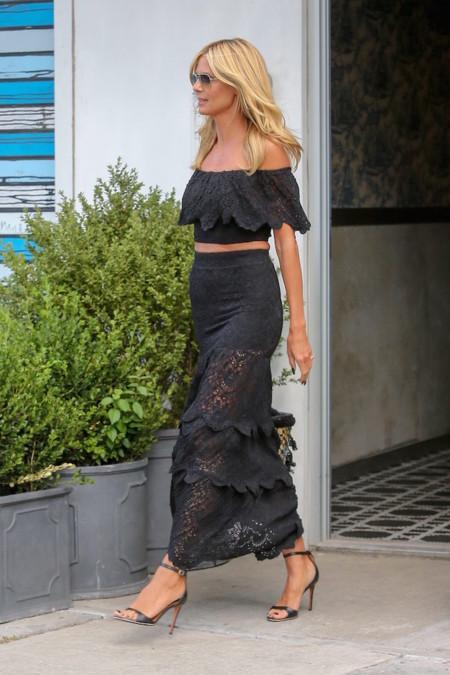 Heidi Klum Escote Bardot 1