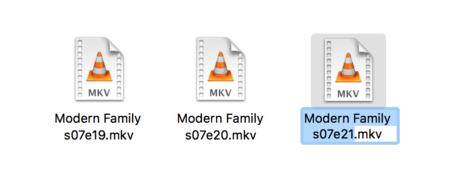 Nombres de archivos