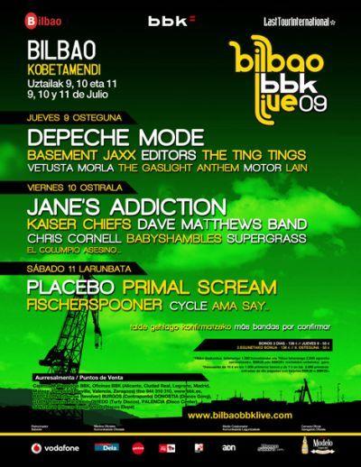 Depeche Mode plato fuerte del Bilbao BBK Live, compra con antelación y ahorrarás