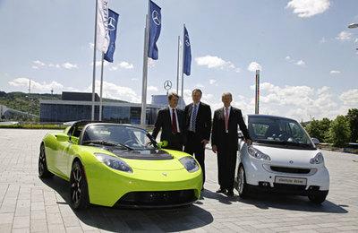 Daimler entra en Tesla, compra un 10%