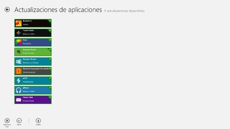 Actualizaciones de aplicaciones disponibles