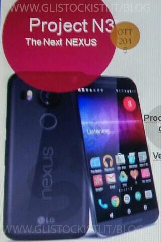 Nexus 5 2015, aparece una imagen de prensa que muestra su frontal y otras especificaciones