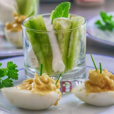 Huevos mimosa. Receta sencilla estilo francés