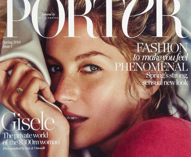Gisele Bündchen, la modelo favorita para la primera portada (también en Porter)
