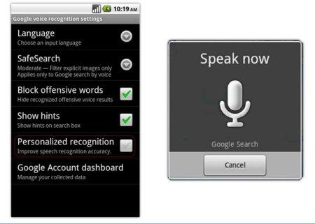 Google propone la personalización de las búsquedas por voz en Android