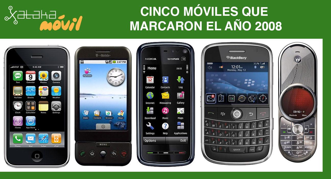 Cinco móviles que marcaron el año 2008