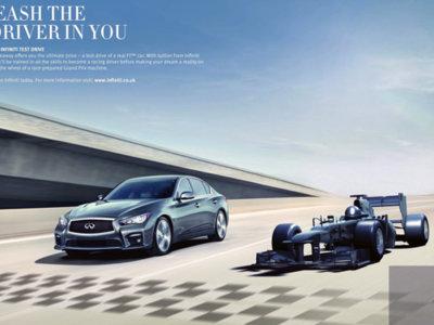 Si vives en Reino Unido y estás interesado en un Infiniti, te puede tocar conducir un Fórmula 1