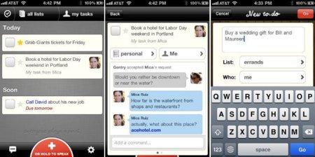 Orchestra, gran gestor de tareas sincronizado entre el iPhone y la web y con énfasis en el trabajo en equipo
