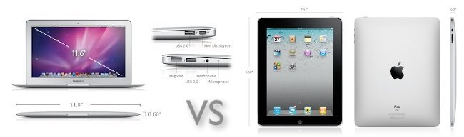 Comparativa MacBook Air 11 vs iPad Wifi