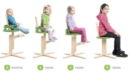 La silla para niños de todas las edades