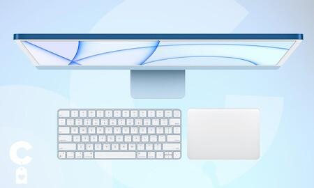 El iMac de 24 pulgadas con chip M1 de Apple a precio mínimo en Amazon si lo eliges en azul: estrena todo en uno por 150 euros menos