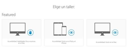 Apple Talleres Accesibilidad