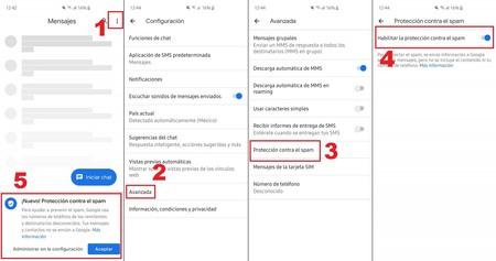 Google Mensajes Proteccion Spam Mexico