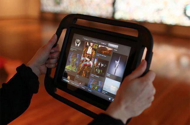 iPad con la aplicación del museo de Cleveland