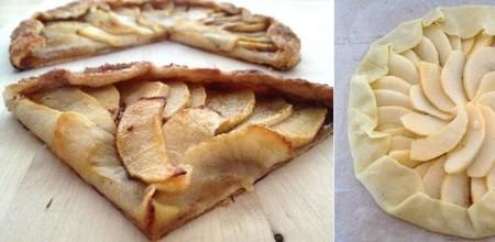 Mini galette de manzana.  Receta con sobras