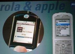 Foto del Motorola con iTunes